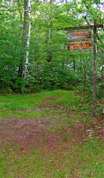 trail junction for the escarpment trail and palenville overlook