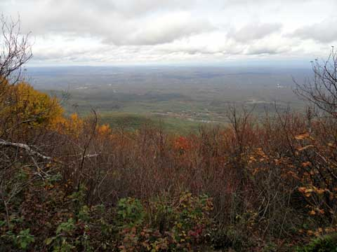 view of the hudson valley from the view point just south of Arizona Mountain in the Catskill Mountains