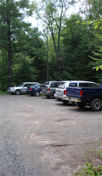 parking area for Sugarloaf Mountain