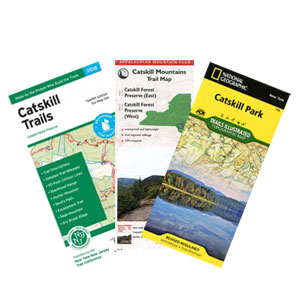 review of hiking map for the catskill mountains
