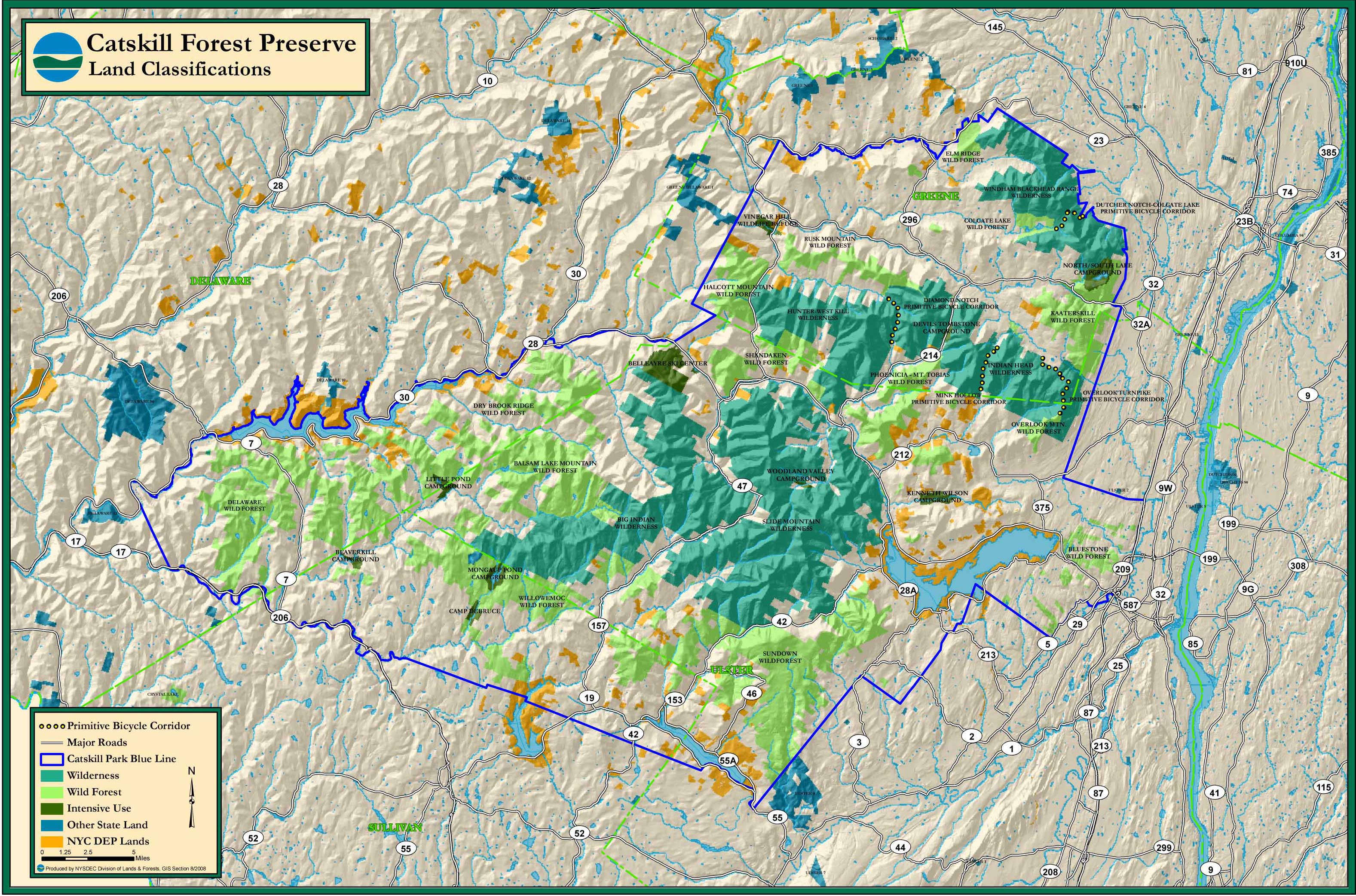 Catskill Mountains Map Catskill Mountains Map catskill park map